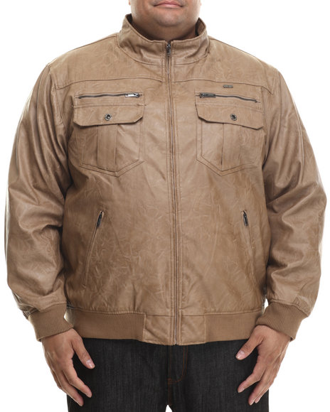 Rocawear - Men Light Brown P U Garment Wash Jacket (B&T)