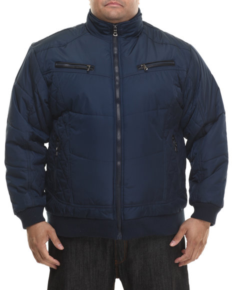 Ur-ID 200751 Basic Essentials - Men Navy Espo Fashion Quilted Bomber Jacket (B&T)