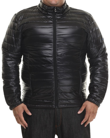 Basic Essentials - Men Black Frosty Polyfill Quilted Jacket (B&T)