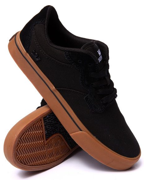 Supra - Men Black Axle Black Canvas/Suede Sneakers
