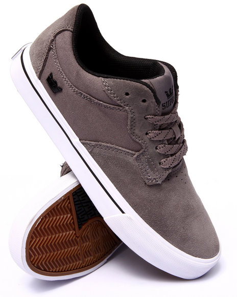 Supra - Men Grey Axle Grey Suede/Canvas Sneakers