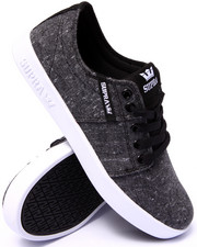 Supra - Stacks 2 Charcoal Speckled Textile Sneakers
