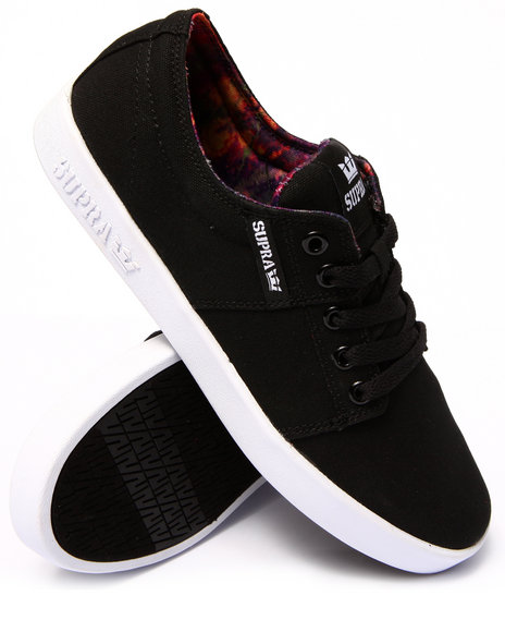 Supra - Men Black,Multi Stacks 2 Black Canvas Sublimated Aurora Print Sneakers