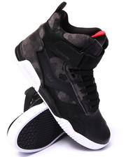Supra - Bleeker Black Leather/Camo Suede Sneakers