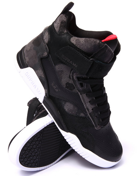 Supra - Men Black,Camo Bleeker Black Leather/Camo Suede Sneakers