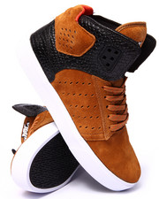 Supra - Atom Spice Colored Suede/Black Croc Embossed Leather Sneakers