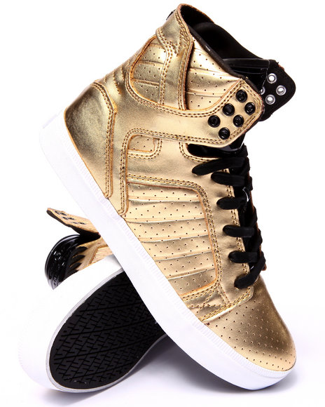 Supra - Men Gold Skytop Ls Heritage Gold Leather Sneakers