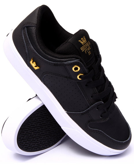 Supra - Men Black,Gold Vaider Lc Black Leather Sneakers