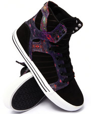 Supra - Skytop Multi Color Aurora Print Sublimated Suede and Canvas Sneakers