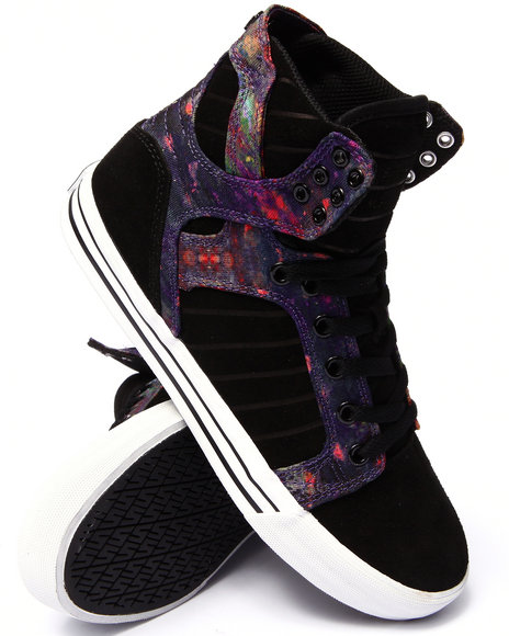 Supra - Men Multi Skytop Multi Color Aurora Print Sublimated Suede And Canvas Sneakers