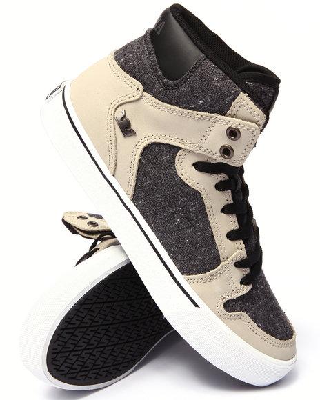 Supra - Men Tan Vaider Tan Leather Sneakers
