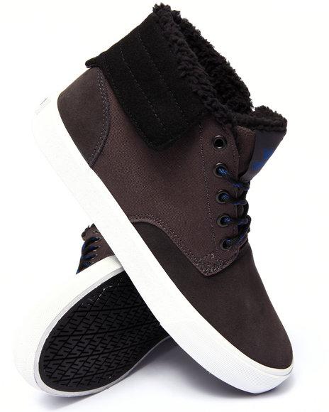 Supra - Men Grey Passion Grey Suede/Canvas Sneakers