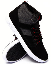 Supra - Bandit Black Suede/Grey Wool Sneakers