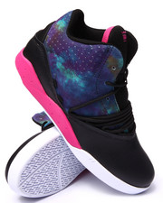 Supra - Estaban Black Leather/Multi Color Suede Sneakers