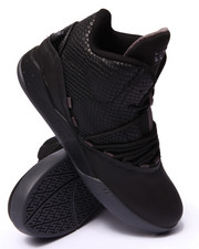 The Skate Shop - Estaban Black Snaked Embossed Leather Sneakers