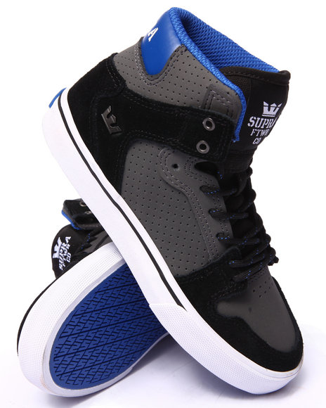 Supra - Boys Grey Vaider Sneakers (1-6)