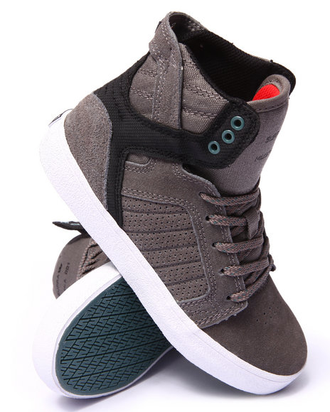 Supra - Boys Grey Skytop Sneakers (1-6)