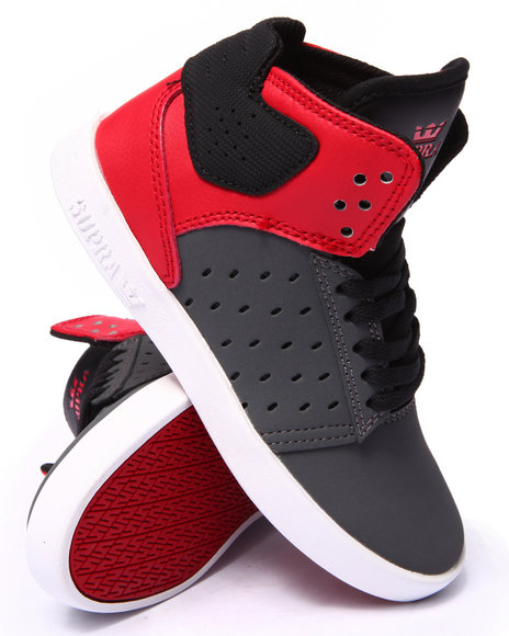 Supra - Boys Grey,Red Atom Sneakers (1-6)