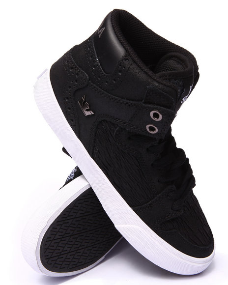 Ur-ID 206713 Supra - Women Black Supra Vaider Suede High Top Sneaker