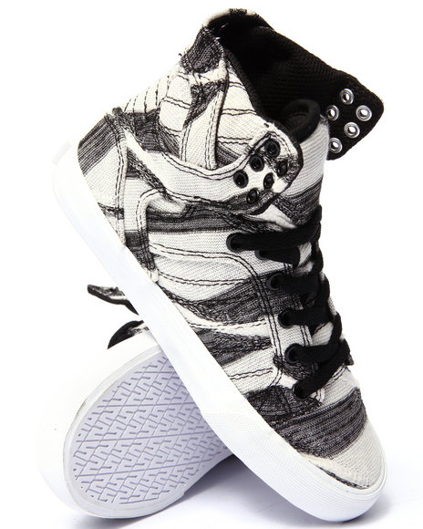Ur-ID 206716 Supra - Women Black,White Supra Skytop Abstract Print Sneaker