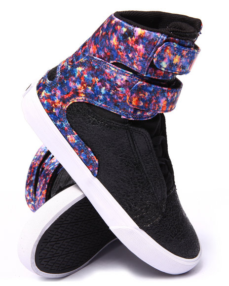 Ur-ID 206717 Supra - Women Black,Multi Supra Society Ii Sublimated Nylon Sneaker