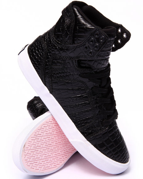 Supra - Women Black Limited Edition Pink Party Skytop W/Pink Sole