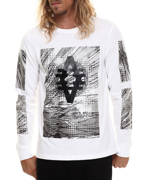 Akademiks - Men White Arden High Density L/S Shirt