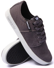 The Skate Shop - Stacks 2 Grey Suede/Canvas Sneakers