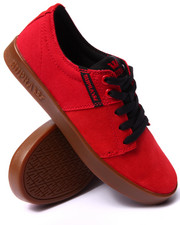 The Skate Shop - Stacks 2 Red Suede/Canvas Sneakers