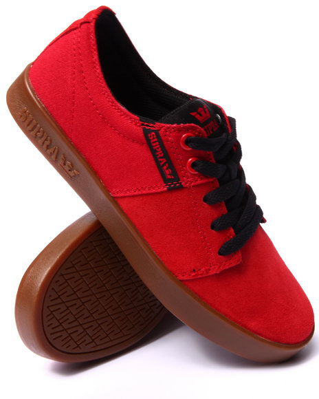 Supra - Men Red Stacks 2 Red Suede/Canvas Sneakers
