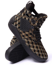 Supra - Skytop IV Black Pony Hair/Olive Laser Etched Pattern Sneakers