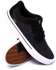 Supra - Axle Black Canvas Grey Paisley Print Sneakers
