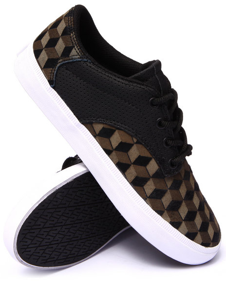 Supra - Men Black,Olive Pistol Black Pony Hair/Olive Laser Etched Pattern Sneakers