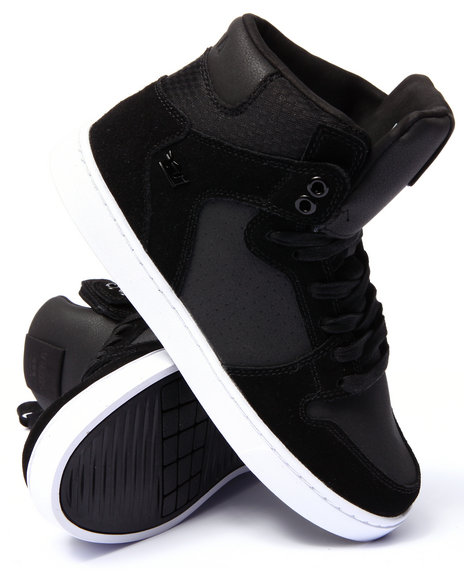 Supra - Men Black Vaider Lx Black Suede/Leather Sneakers