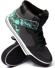 Supra - Vaider Black Leather/Mint Suede Sneakers