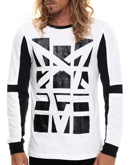 Akademiks - Men White Overlook High Density L/S Shirt - $36.00