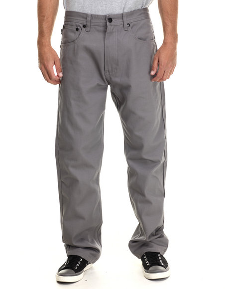 Akademiks - Men Grey Culture Twill Pants - $20.99