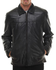 Leather Jackets - Two - Pocket Authentic Leather Jacket
