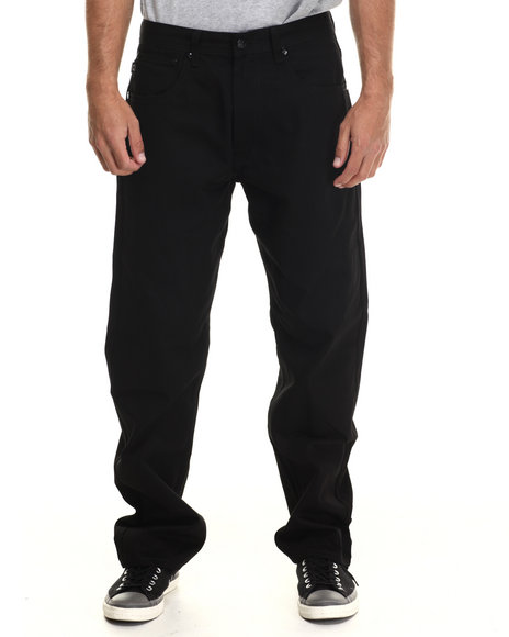Akademiks - Men Black Culture Twill Pants - $29.99