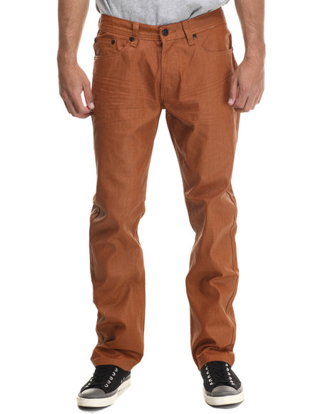 Akademiks - Men Copper Robertson Coated Denim Jeans