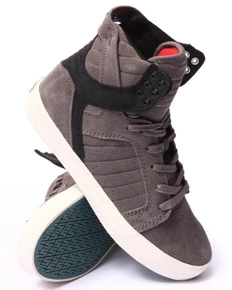 Supra - Men Grey Skytop Grey Suede Supra Tuf Sneakers
