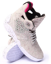 Supra - Skytop IV Grey Paint Speckled Suede Sneakers