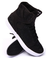 Supra - Skytop LS Black Canvas/Rose Pattern Sneakers