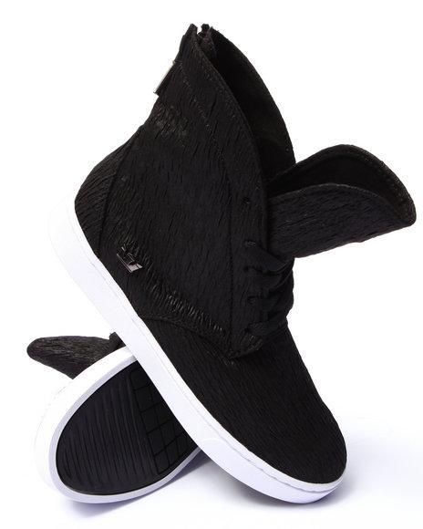 Ur-ID 206755 Supra - Women Black Supra Joplin Crinkle Textured High Top Sneaker