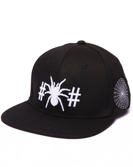 Been Trill Men Spider Snapback Cap Black