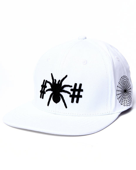 Been Trill Men Spider Snapback Cap White