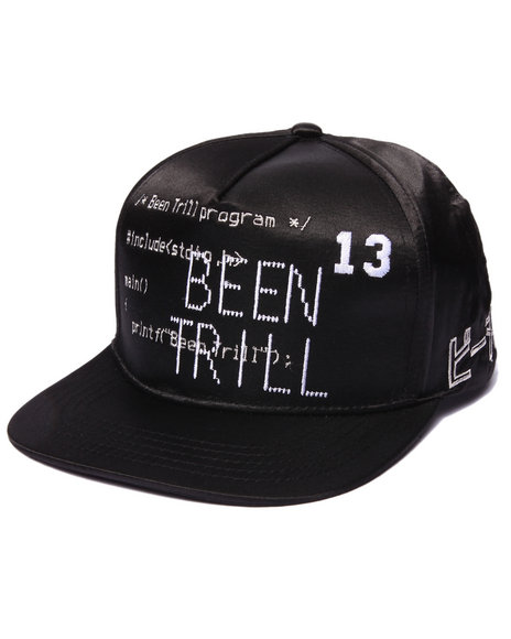 Been Trill Men Been Trill Code Satin Snapback Cap Black