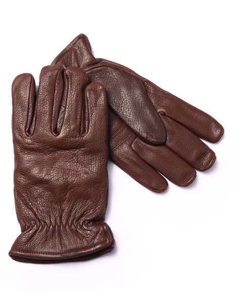 Drj Leather Shoppe - Men Brown Premium Leather Gloves
