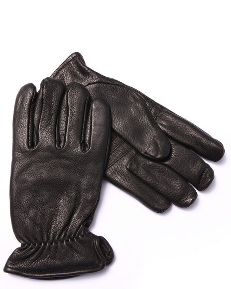 Drj Leather Shoppe - Men Black Premium Leather Gloves