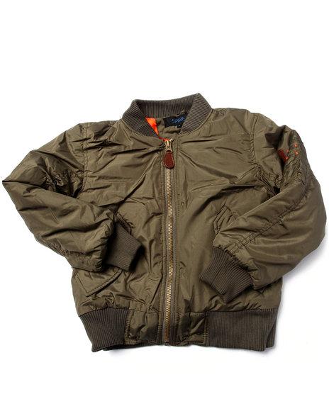 Arcade Styles - Boys Olive Aviator Flight Jacket (8-20) - $34.99